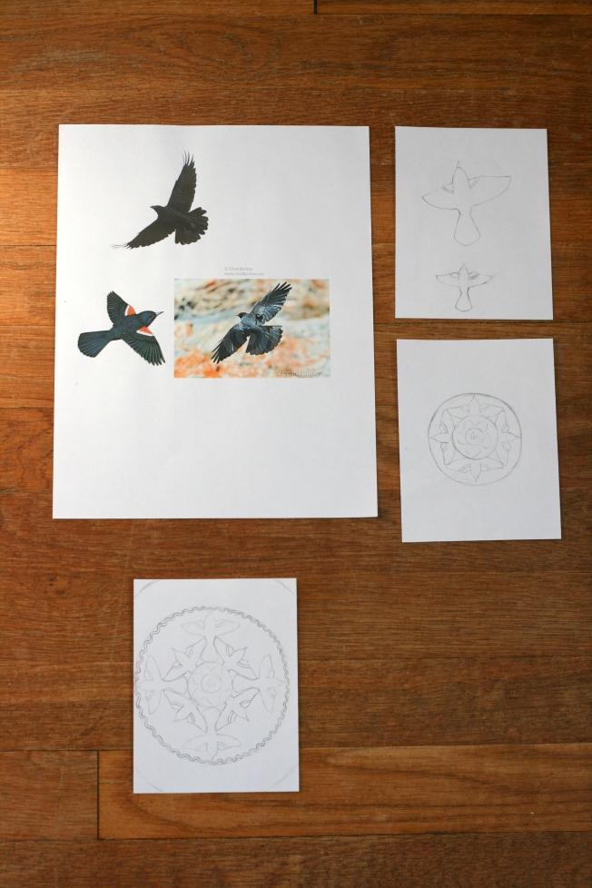 Nursery Rhyme Art Project:  Blackbirds (Pattern and Branch)