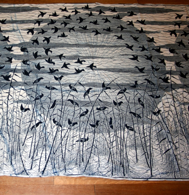 wax print with birds (Pattern and Branch)