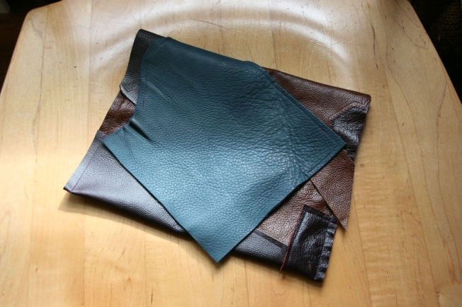 Leather clutches by Pattern and Branch